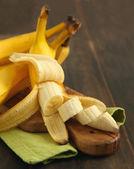 Ripe sliced banana — Stock Photo
