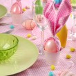 easter table setting — Stock Photo #20016883