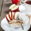 Apple-cinnamon oatmeal — Stock Photo