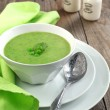 Fresh green pesoup (Selective Focus) — Stock Photo #24072147