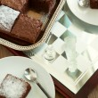 Very Low-fat Brownies. Selective focus — Stock Photo