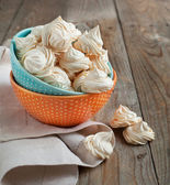 Meringue cookies. Selective focus — Stock Photo