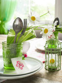 Summer table setting — Stock Photo