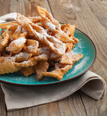 Deep-fried pastry on plate. Selective focus — Stock Photo