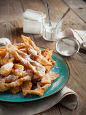 Deep-fried pastry on wooden table. Selective focus — Stock Photo