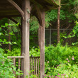 Arbor in garden — Stock Photo