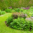 Colorful landscaped formal garden. Selective focus. — Stock Photo #27282659