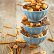 Stock Photo: Snack mix. Salty treat for snacking.