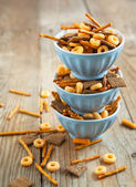 Snack mix. Salty treat for snacking. — Stock Photo