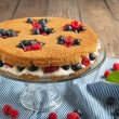Stock Photo: Summer shortcake. Selective focus