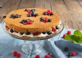 Summer shortcake. Selective focus — Stock Photo