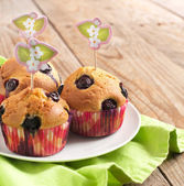 Homemade Blueberry Muffins — Stockfoto