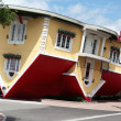 Stock Photo: NIAGARFALLS, Canad- AUG 4: Attraction Upside Down House in NiagarFalls, Canada, August 4, 2013