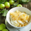 Creamy rice pudding with apple and cinnamon — Stock Photo #30340305