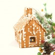 Gingerbread house with Christmas decoration  — Stockfoto