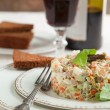Russian traditional salad Olivier. Selective focus — Stock Photo #31166737
