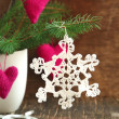Handmade Christmas ornaments — Stock Photo