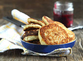 Homemade cheese pancakes — Stock Photo