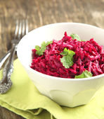 Beetroot salad (Russian cuisine) — Stock Photo