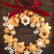 Christmas cookies wreath — Stock Photo