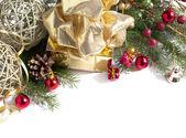 Vánoční složení s vánoční dekorace — Stock fotografie