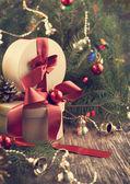 новогодние подарочные коробки — Стоковое фото