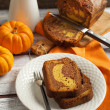 Stock Photo: Marble chocolate pumpkin cake