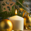 Stock Photo: Christmas Decoration with Candle