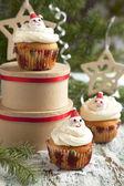 Christmas cupcake — Stock Photo