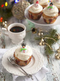 Christmas cupcake — Stock Photo