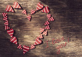 Valentines Day background with heart. — Stock Photo