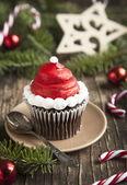 Yılbaşı cupcake — Stok fotoğraf