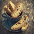 Stock Photo: Biscotti with cranberry and walnuts
