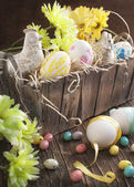 Decoration easter eggs — Stock Photo