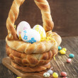 Easter braided basket — Stock Photo #38726139