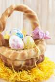 Easter bread basket — Stock Photo