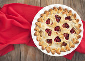 Apple cranberry pie — Stock Photo