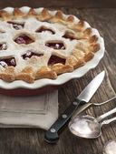 Apple cranberry pie — Stock Photo