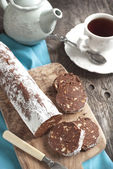 Chocolate salami — Stock Photo
