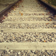 Close up on part of railroad track — Stock Photo #39878457