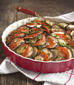 Ratatouille. Vegetable gratin. Famous French dish from Provence. — Stock Photo
