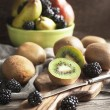 Stock Photo: Fresh fruits and berries