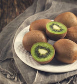 Fresh kiwis. Toned image — Stock Photo