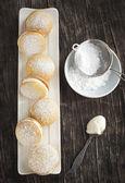 Sponge kisses with cream — Foto Stock