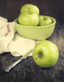 Green apples. Toned image — Stock Photo