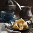 Baklava with honey and nuts - traditional Turkish dessert — Stock Photo #43156309
