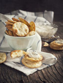 Pita Bites with cheese sauce — Foto Stock