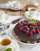 Cake with berries — Stock Photo