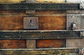 Closeup old vintage chest — ストック写真