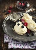 果実とバニラアイス クリーム — ストック写真